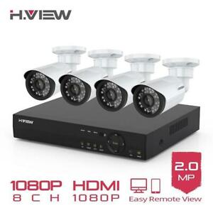 Protect your Property !!! H.VIEW 8CH 1080P Camera Security System  Free Fast Shipping Canada Preview