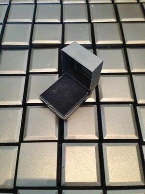 WHOLESALE JOBLOT 50 BLACK RING BOXES JEWELLERY GIFT BOXES HINGED PACKAGING