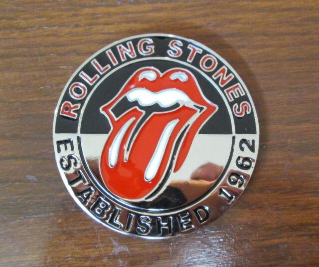 Rolling Stones Lips Established 1962 Belt Buckle Rock and Roll