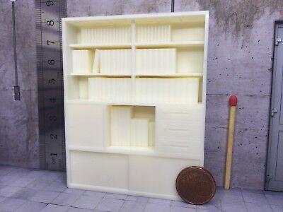 Schietto Modello Librerie (resin) In 1:24/1:25, Per Diorama-slot Bahn-lgb-