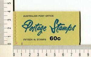 41138) AUSTRALIA 1966 MNH** QEII 4c (x15) n.385 Booklet SG B39E -Imperf L & R