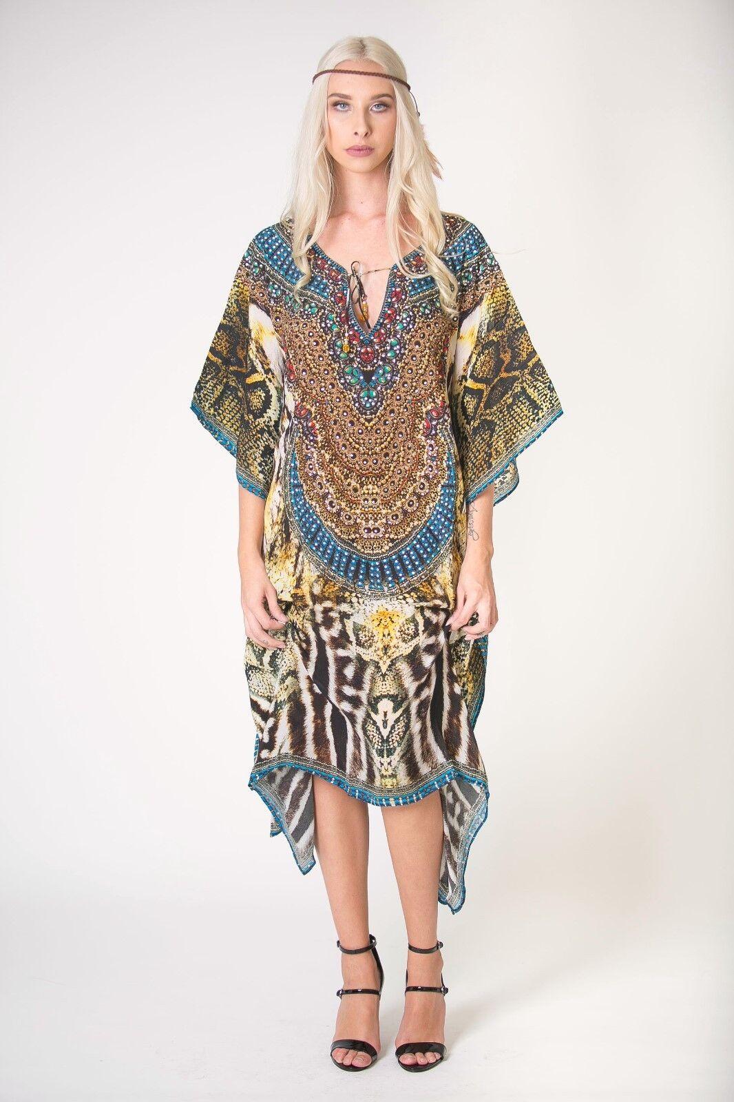 Animal print  Resort Beach wear Silky Soft Kaftan Designer digital Print SLP 619