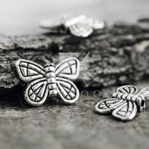 60pcs Tibetan Silver Loose Spacer Charm Metal Bead Jewelry Findings 15x11x3.5mm