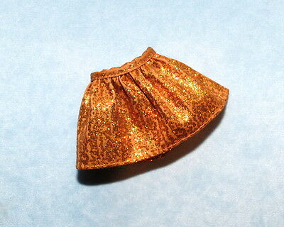 Sparkling Dark Gold or Copper Mini Skirt Genuine BARBIE Clothes SO SEXY