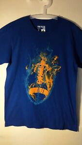 Authentic-Adidas-The-Go-Tee-Blue-T-shirt-Size-L