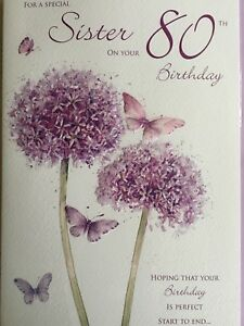 Image Is Loading Sister 80th Birthday Card