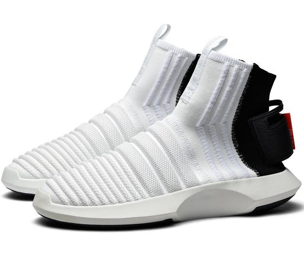 fbdf4dd9372c Mens adidas Crazy 1 ADV Sock Primeknit Running White Core Black ...