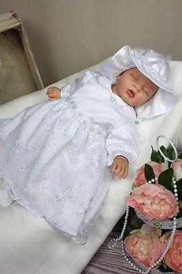 Baby Mütze Barett  Fleece Taufkleid,Taufkleidung Taufe Herbst Winter Taufmütze