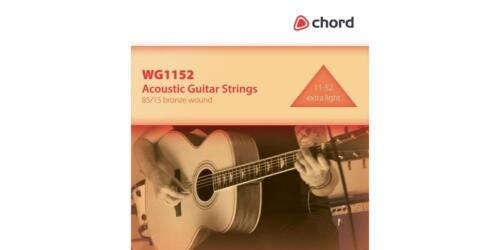 Chord 173.172 Acoustic Guitar 11//52 High Quality Complete Six String Set New