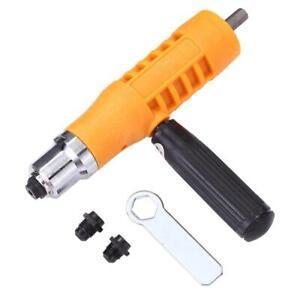 Electric-Rivet-Nut-Gun-Riveting-Tool-Cordless-Insert-Riveter-Adapter-Kit-3YE