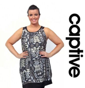 6895991ce8 Image is loading PLus-Size-Captive-Aztec-Print-Jersey-Dress-Tunic-