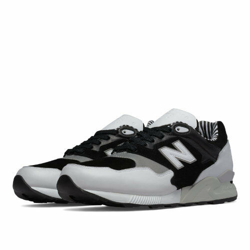 New Balance Mens 878 90s Prep Running shoes Black White Grey ML878NPA Size 8.5