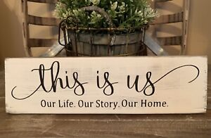 12-Rustic-Wood-Sign-THIS-IS-US-Life-Family-Welcome-Farmhouse-Home-Decor-Love
