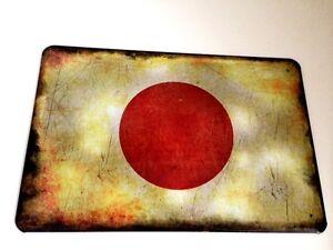 Japon-Drapeau-Panneau-Metallique-Plaque-Voute-Signe-en-Etain-Metal-20-X-30-CM