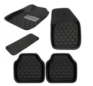 5Pcs-Set-Car-Floor-Mats-Front-amp-Rear-Carpet-Black-Skidproof-Mat-Pad-Protector