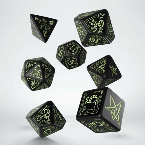 Blackglow in the dark Call of Cthulhu dice set by Q WORKSHOP