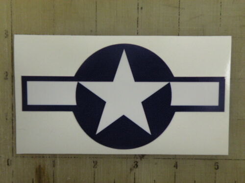 """Vintage Star and Bars blue /& wht decal sticker 5/""""x2.6/"""""""