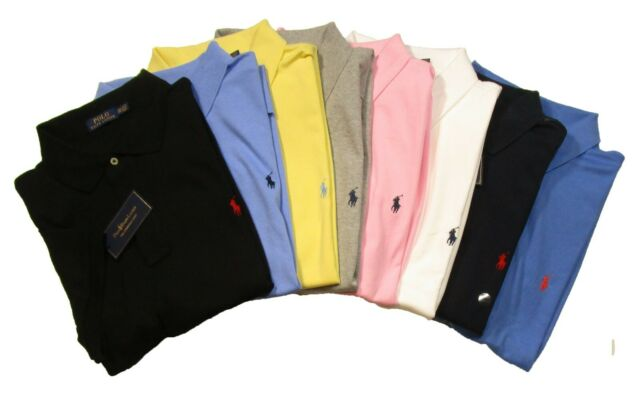 Ralph Lauren Mens Big and Tall Interlock Polo Shirt Classic Fit Pony Logo