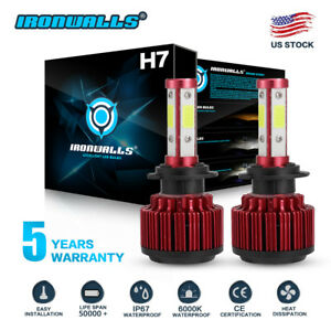 CREE-H7-1800W-270000LM-4-Sides-LED-Headlight-Kit-High-or-Lo-Light-Bulb-6000K-Car