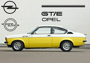 kit autocollants opel kadett gte ebay. Black Bedroom Furniture Sets. Home Design Ideas
