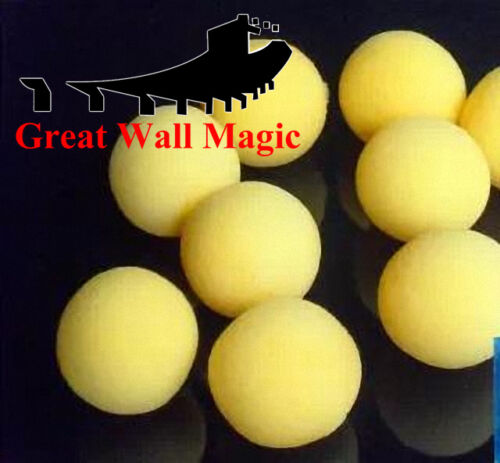 20 pcslot 4.5cm Super Soft Sponge BallsYellow Close Up Magic