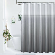 EurCross 180 x 200cm Long Shower Curtains Mould proof Resistant Washable Grey