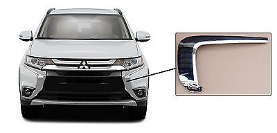 Fit For Mitsubishi 1 Pcs Front Middle Bumper Chrome Molding Strip Trim 6407A146 Right Passenger Side Generic Outlander 2016-2019