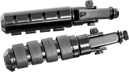 Black PEGSBK Adjustable 1620-0812 Rivco Products Anti-Vibration Highway Pegs