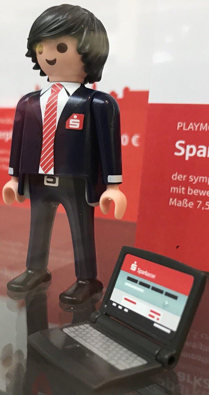 2 X Playmobil- Sparkasse Mann mit Laptop SONDErotITION 2018 + 9232 Bobby-NEU OVP  | Moderate Kosten