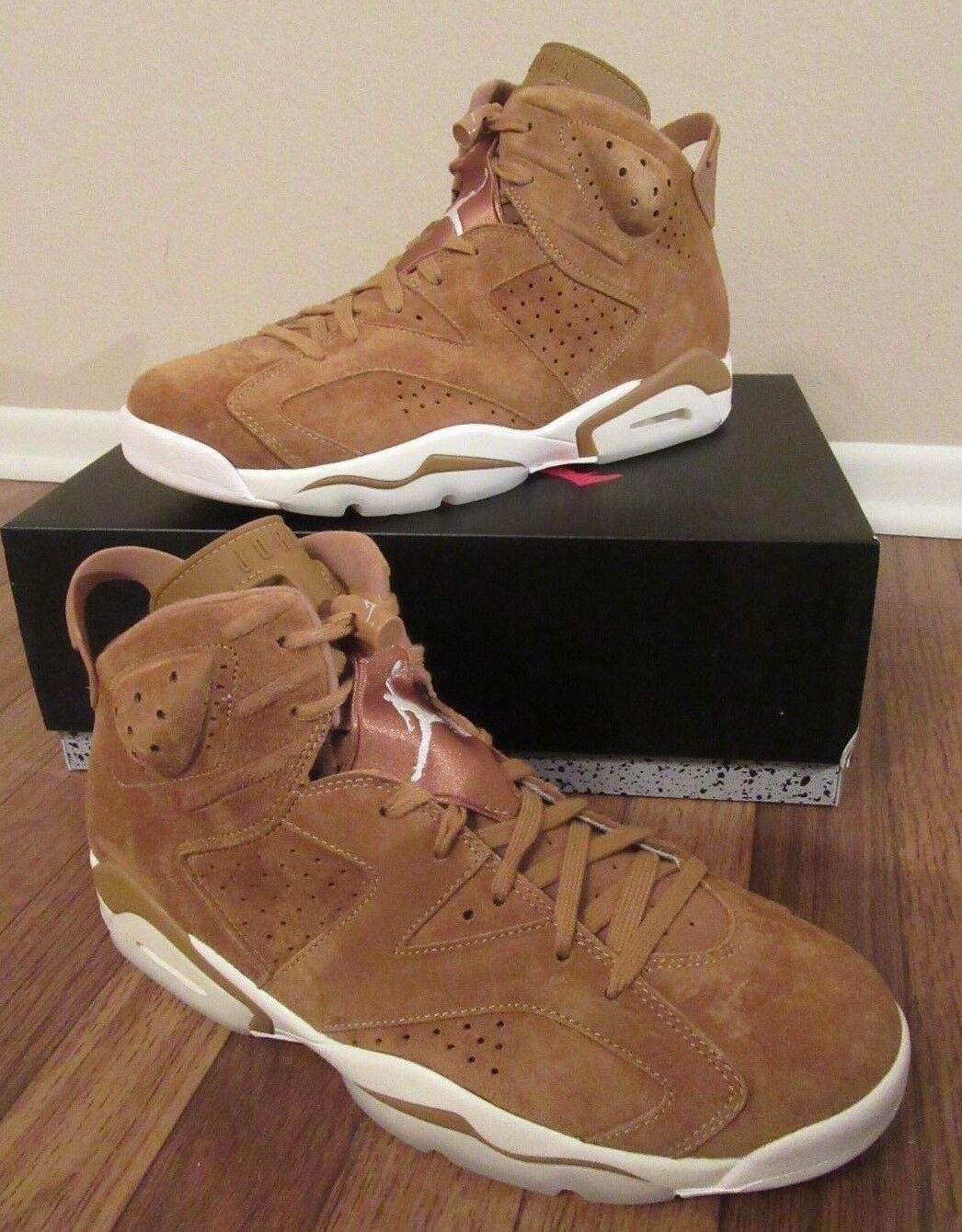 Nike Air Jordan 6 Retro VI Size 11 Golden Harvest Flax Wheat 384664 705 New NIB