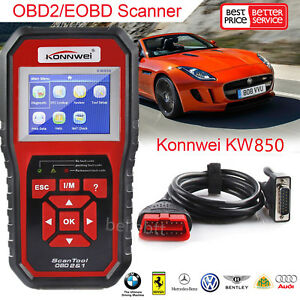 Details about 2018 NEW ODB OBD2 Auto Car Diagnostic Tool Scanner KW850  Automotive Code Reader