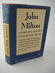 COMPLETE-POETRY-amp-PROSE-John-Milton-MODERN-LIBRARY-Poems-CLASSIC