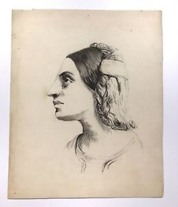 An Antique English 19th Century Master Profile Drawing