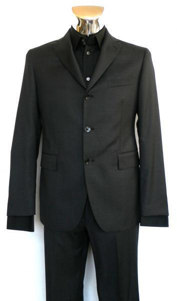 MAN DRESS SUIT-CUTTER 100% VIRGIN WOOL MOD 3FNA23B01 ANTHRACITE grau