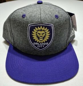 brand new 89538 d3a2a Image is loading Orlando-City-Soccer-Adidas-MLS-Snapback-Cap-Hat-