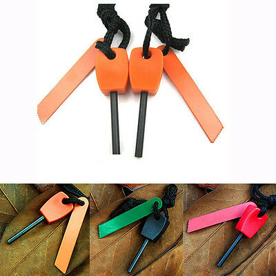 Portable Surviavl Magnesium Flint Fire Starter Striker Stick Maker Lighter Kit
