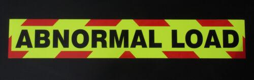 Medium 900mm Abnormal Load Fluorescent Magnetic Warning Sign