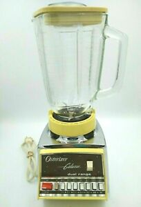 Vintage Osterizer Galaxie Dual Range 14 Blender 848-34H Almond Tested MCM