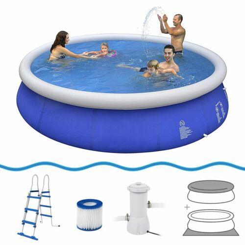 Marin Blue Pool Set Ø 450x90 cm Schwimmbecken + Pumpe Abdeck- & Bodenplane