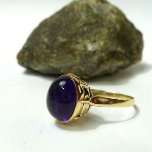 Women-039-s-Ring-with-Amethyst-333-8K-Ring-56-17-8-mm