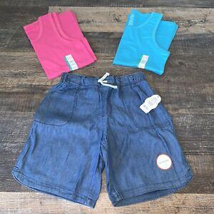 NEW Justice Girls Aqua Athletic Bermuda Length Shorts 6 7 8 12 14 16 18 20 year