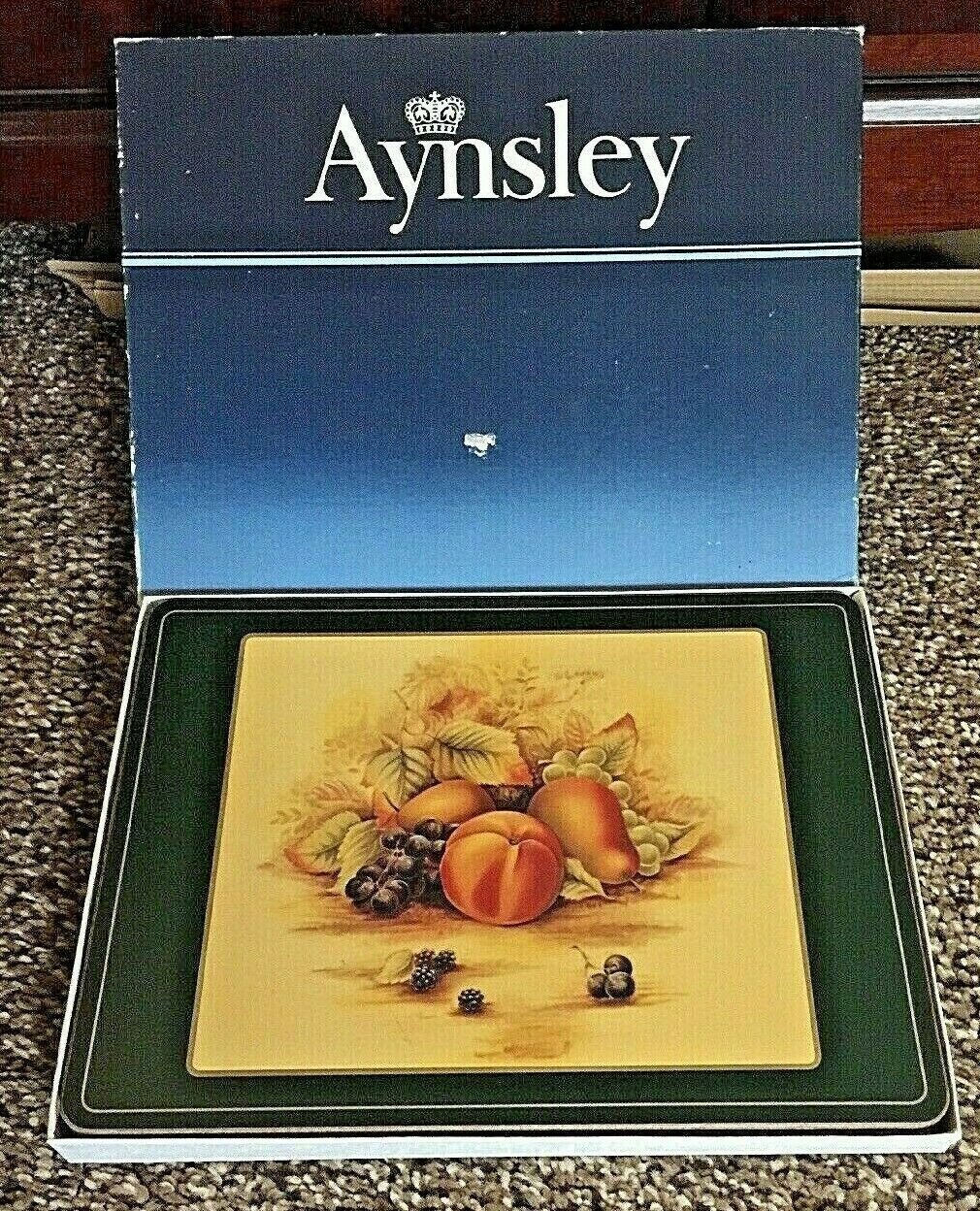 Vintage Lot de 6 Aynsley Orchard or liège soutenu NAPPERONS BOXED-RARE