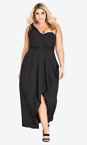 NWT CITY CHIC Allure Maxi Dress - size 16 - size S - RRP $199.95