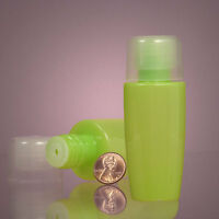 Lot Of N Opaque Lime Lotion Bottles Made Of Rigid Polyethylene Plastic. 2 Oz.