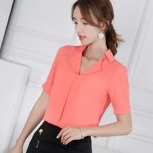 Women-T-Shirt-Loose-Summer-Top-Short-Sleeve-Ladies-Shirt-Chiffon-Blouse-Fashion