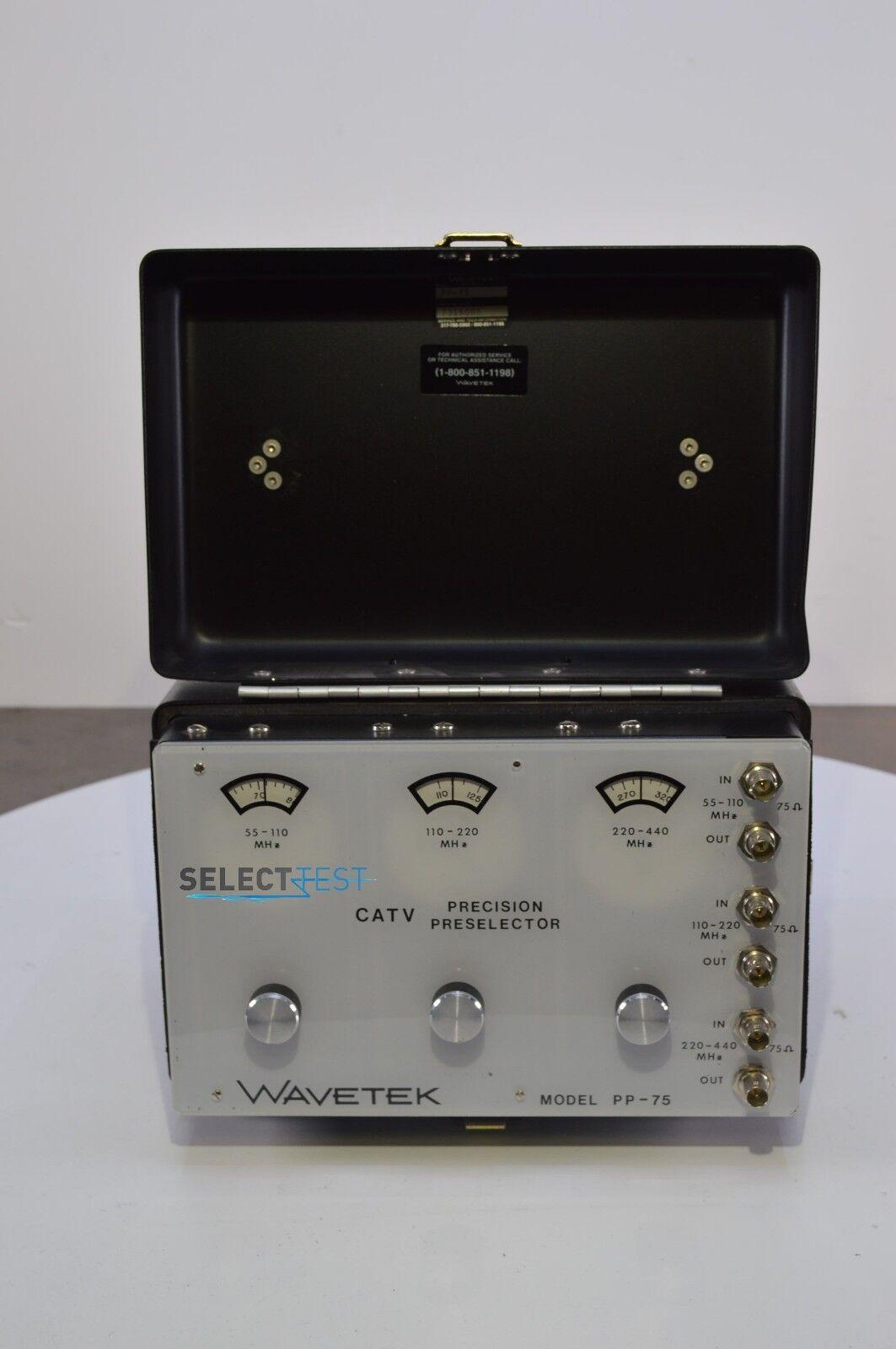 Wavetek Pp-75 CATV Precision Preselector Tunable Bandpass Filter