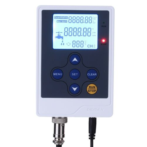 "DIGITEN Water Flow Control LCD Display+G2/"" Flow Sensor Meter+DC 12V Power"