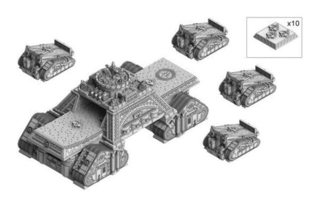 Dystopian Wars: Republique of France Armoured Support Group - DWFR44