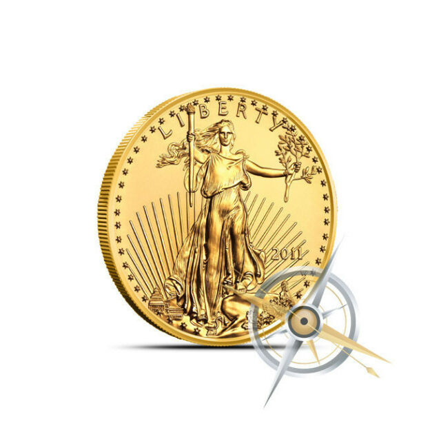 1/10 oz $5 American Gold Eagle Coin - Random Year (Our Choice) - Gem BU