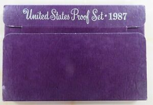 1987-S-Complete-Clad-Proof-Set-Quarter-Kennedy-Lincoln-jefferson-with-box-COA